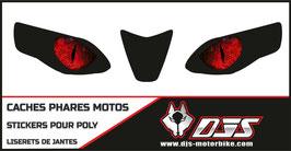 1 jeu de caches phares DJS pour  Aprilia RSV4 2009-2013 microperforés qui laissent passer la lumière - référence : yeux modèle 4-