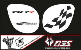 1 jeu de caches phares DJS pour Kawasaki zx7r 1999 microperforés qui laissent passer la lumière - référence : zx7-r-1999-001-