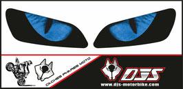 1 jeu de caches phares DJS pour HONDA CBR RR 600-1000 2003-2007 microperforés qui laissent passer la lumière - référence : yeux modèle 3-