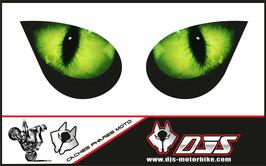 1 jeu de caches phares DJS pour KAWASAKI ZX-6R-2007-2008 microperforés qui laissent passer la lumière - référence : yeux modèle 1-
