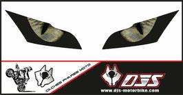 1 jeu de caches phares DJS pour Kawasaki zx10r 2011-2015  microperforés qui laissent passer la lumière - référence : zx10r 2011-2015-yeux modèle 3-