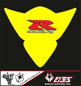 1 cache phare DJS pour Suzuki GSX-R 1000 2005-2006 microperforé qui laisse passer la lumière - référence : gsx-r-1000-2005-2006-012-