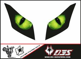 1 jeu de caches phares DJS pour yamaha T-MAX 2012-2016 microperforés qui laissent passer la lumière - référence : T-MAX-2012-2016-yeux modèle 1-