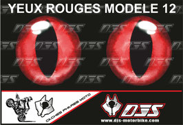 1 jeu de caches phares DJS pour  Triumph daytona 2006-2008 microperforés qui laissent passer la lumière - référence : yeux modèle 12-