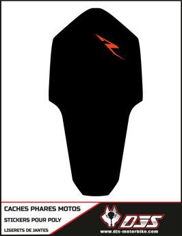 1 jeu de caches phares DJS pour KTM RC8 microperforés qui laissent passer la lumière - référence : RC8-002-