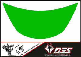 1 cache phare DJS pour Kawasaki zx6r microperforé qui laisse passer la lumière - référence : zx6r-1996-1999-couleur uni-