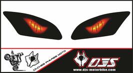 1 jeu de caches phares DJS pour Yamaha r6 2006-2016 microperforé qui laisse passer la lumière - référence : Yamaha r6 2006-2016-yeux modèle 6-