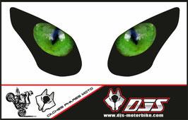 1 jeu de caches phares DJS pour KAWASAKI ZX-10R-2008-2010 microperforés qui laissent passer la lumière - référence : yeux modèle 2-