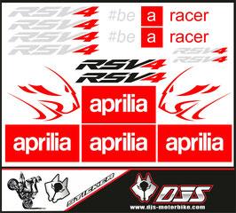 stickers en planche pour APRILIA RSV4