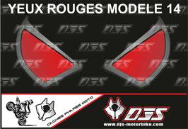 1 jeu de caches phares DJS pour  Honda CBR 600 RR 2008-2012 microperforés qui laissent passer la lumière - référence : yeux modèle 14-