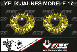 1 jeu de caches phares DJS pour APRILIA TUONO V4-2011-2014 microperforés qui laissent passer la lumière - référence : yeux modèle 17-