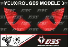 1 jeu de caches phares DJS pour Aprilia RSV4 2009-2013 microperforés qui laissent passer la lumière - référence : yeux modèle 3-