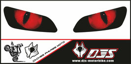 1 jeu de caches phares DJS pour HONDA CBR RR 600-1000 2003-2007 microperforés qui laissent passer la lumière - référence : yeux modèle 1-