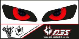 1 jeu de caches phares DJS pour HONDA CBR RR 600-1000 2003-2007 microperforés qui laissent passer la lumière - référence : yeux modèle 10-