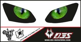 1 jeu de caches phares DJS pourYAMAHA R1 2007-2008  microperforés qui laissent passer la lumière - référence : YAMAHA R1 2007-2008-yeux modèle 2-