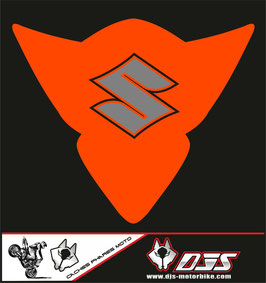 1 cache phare DJS pour Suzuki GSX-R 1000 2005-2006 microperforé qui laisse passer la lumière - référence : gsx-r-1000-2005-2006-014-