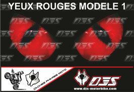 1 jeu de caches phares DJS pour  Honda CBR 600 RR 2008-2012 microperforés qui laissent passer la lumière - référence : yeux modèle 1-
