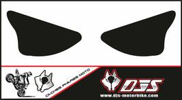 1 jeu de caches phares DJS pour Kawasaki zx6r microperforé qui laisse passer la lumière - référence : ZX6R-2003-2004-noir uni-