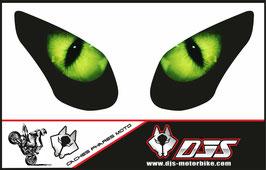 1 jeu de caches phares DJS pour KAWASAKI ZX-10R-2008-2010 microperforés qui laissent passer la lumière - référence : yeux modèle 1-