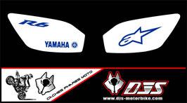 1 jeu de caches phares DJS pour YAMAHA r6 1999-2002 microperforés qui laissent passer la lumière - référence : r6-1999-2002-002
