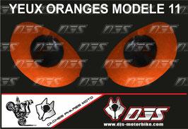 1 jeu de caches phares DJS pour KTM DUKE 790 2018-2021  microperforés qui laissent passer la lumière - référence : yeux modèle 11-