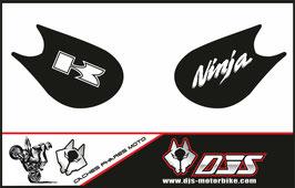 1 jeu de caches phares DJS pour Kawasaki zx10r 2006-2007 microperforé qui laissent passer la lumière - référence :zx10r-2006-2007-001-