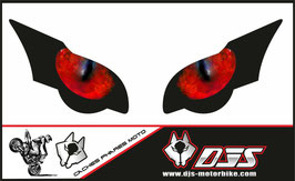 1 jeu de caches phares DJS pour HONDA CBR 1000 RR  microperforés qui laissent passer la lumière - référence : CBR 1000-2008-2011-yeux ROUGES 023-