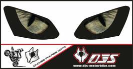 1 jeu de caches phares DJS pour YAMAHA R1 2007-2008 microperforés qui laissent passer la lumière - référence : YAMAHA R1 2007-2008-yeux modèle 3-