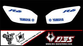 1 jeu de caches phares DJS pour YAMAHA r6 1999-2002 microperforés qui laissent passer la lumière - référence : r6-1999-2002-005