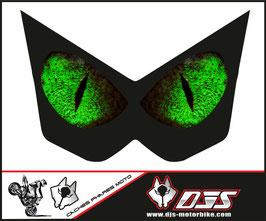 1 jeu de caches phares DJS pour Kawasaki Z1000 2003-2009 microperforés qui laissent passer la lumière - référence : Z1000-2003-2009-yeux 4 verts-