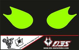 1 jeu de caches phares DJS pour Kawasaki zx10r 2006-2007 microperforé qui laissent passer la lumière - référence :zx10r-2006-2007-couleur uni-
