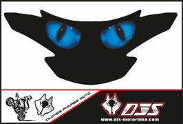 1 cache phare DJS pour SUZUKI GSR 750 2011-2017 microperforé qui laisse passer la lumière - référence : SUZUKI GSR 750 2011-2017-yeux modèle 1-