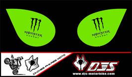 1 jeu de caches phares DJS pour Kawasaki zx6r microperforés qui laissent passer la lumière - référence : zx6-r-2007-2008-009