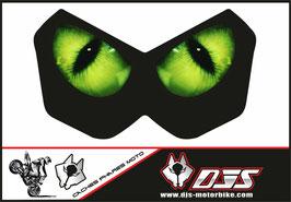 1 cache phare DJS pour Kawasaki Z750-2004-2006 microperforé qui laisse passer la lumière - référence : Kawasaki Z750-2004-2006-yeux modèle 1-