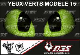 1 jeu de caches phares DJS pour YAMAHA r6 1999-2002 microperforés qui laissent passer la lumière - référence : YAMAHA r6 1999-2002-yeux modèle 15-