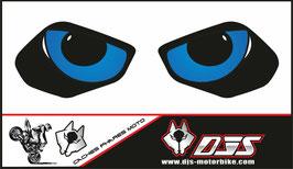 1 jeu de caches phares DJS pour YAMAHA MT 10 2015-2021 microperforés qui laissent passer la lumière - référence : YAMAHA MT 10 2015-2021-yeux modèle 9-