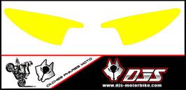 1 jeu de  caches phares DJS pour Yamaha r6 de 2003-2005  microperforés qui laissent passer la lumière - référence : r6-2003-2005-couleur uni-