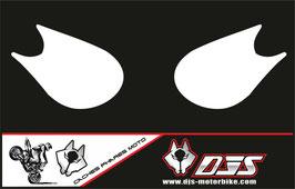 1 jeu de caches phares DJS pour Kawasaki zx10r 2006-2007 microperforé qui laissent passer la lumière - référence :zx10r-2006-2007-blanc uni-
