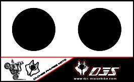 1 jeu de caches phares DJS pour Triumph speed triple microperforés qui laissent passer la lumière - référence : speed triple-2007-2010-NOIR UNI-