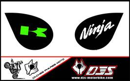 1 jeu de caches phares DJS pour Kawasaki zx6r microperforés qui laissent passer la lumière - référence : zx6-r-2007-2008-005