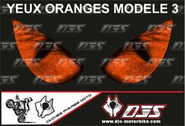 1 jeu de caches phares DJS pour KTM DUKE 890 2020-2021 microperforés qui laissent passer la lumière - référence : yeux modèle 3-