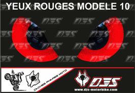 1 jeu de caches phares DJS pour  Honda CBR 600 RR 2008-2012 microperforés qui laissent passer la lumière - référence : yeux modèle 10-