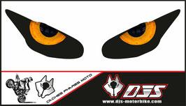 1 jeu de caches phares DJS pour Triumph daytona 2009-2012 microperforés qui laissent passer la lumière - référence : yeux modèle 10-