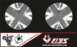1 jeu de caches phares DJS pour  triumph street triple 2007-2010 microperforés qui laissent passer la lumière - référence : 001-