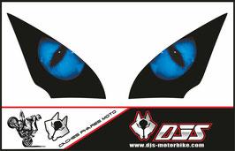 1 jeu de caches phares DJS pour SUZUKI GSX-S 1000 F 2015-2020 microperforés qui laissent passer la lumière - référence : yeux modèle 1-