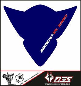 1 cache phare DJS pour Suzuki GSX-R 1000 2005-2006 microperforé qui laisse passer la lumière - référence : gsx-r-1000-2005-2006-009-