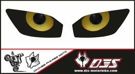 1 jeu de  caches phares DJS pour YAMAHA r6 1999-2002 microperforé qui laisse passer la lumière - référence : YAMAHA r6 1999-2002-yeux modèle 11-