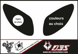 1 jeu de caches phares DJS pour Yamaha T MAX  2001-2008 microperforés qui laissent passer la lumière - référence : T MAX  2001-2008-personnalisé-
