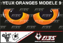 1 jeu de caches phares DJS pour KTM DUKE 890 2020-2021 microperforés qui laissent passer la lumière - référence : yeux modèle 9-
