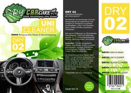 Dry2 - UNI Cleaner - 500ml Sprühflasche